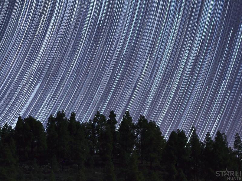 Star trails heading North-East