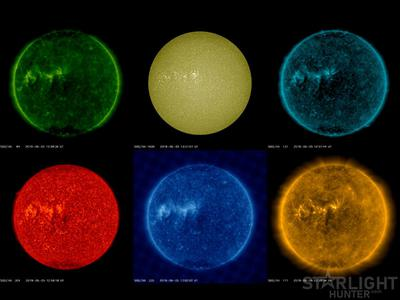 Solar Dynamics Observatory images timelapse from Jun 8 to Jul 6 2019 Part 1