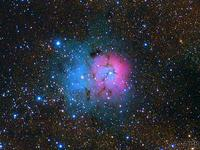 Sent astrophotography of Trifid and Lagoon nebulas to Calar Alto contest